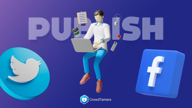 Publishing content on Facebook and Twitter